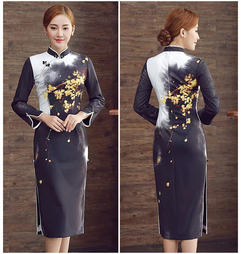 长袖短款旗袍连衣裙 - 1505147909 - 太阳的博客