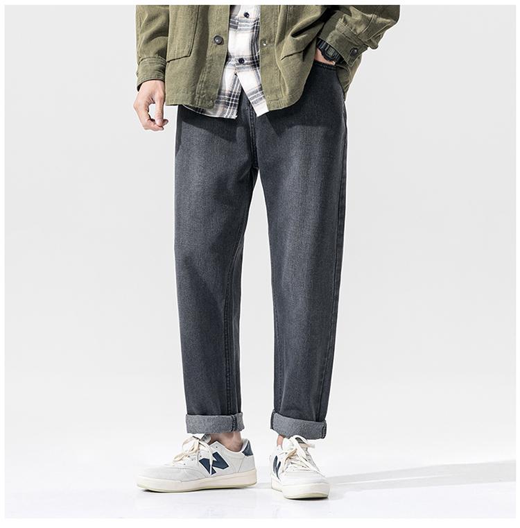 【已质检】九分牛仔裤男士潮牌2020春款韩版宽松休闲裤DS672TP35