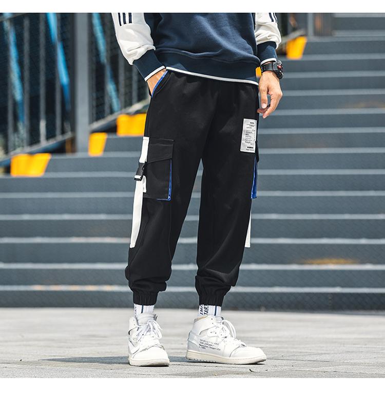 【有质检报告】秋冬男士束脚九分新款男裤休闲工装裤 DS501TP50
