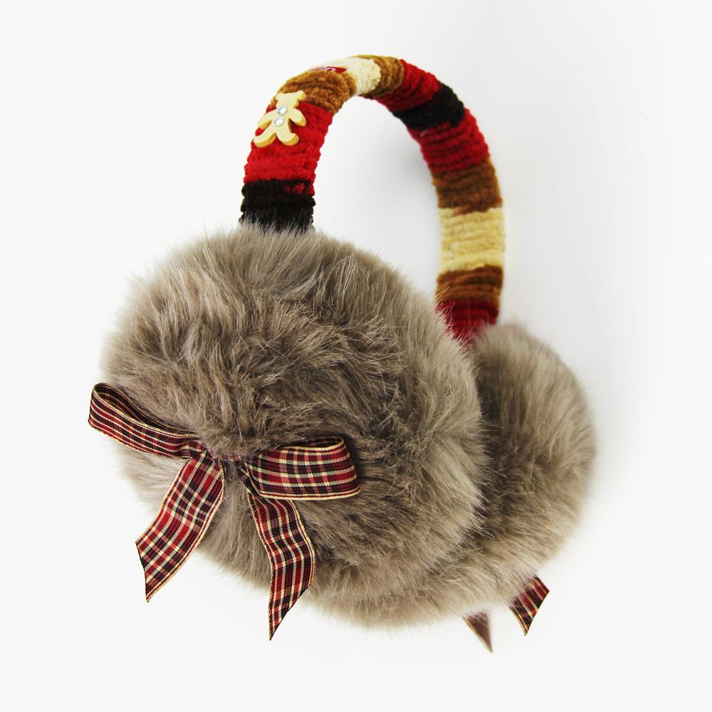 黛秀爱蝴蝶结毛绒耳罩,50元给女友的礼物