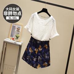 9226【实拍】【附加视频】胖mm两件套时尚大码女装短裤套装短袖