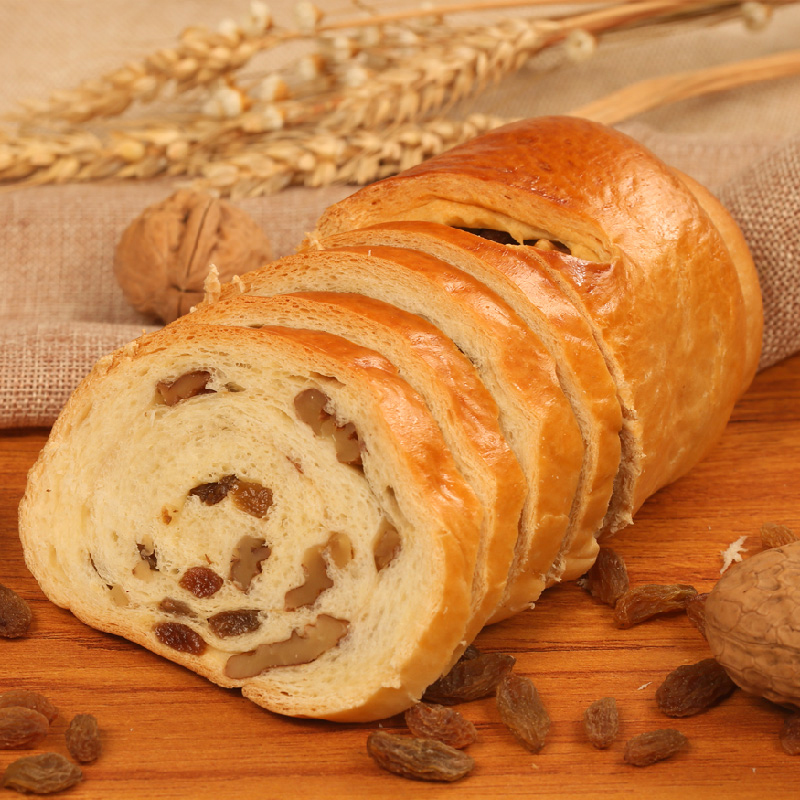 新疆核桃仁早餐面包大列巴400g