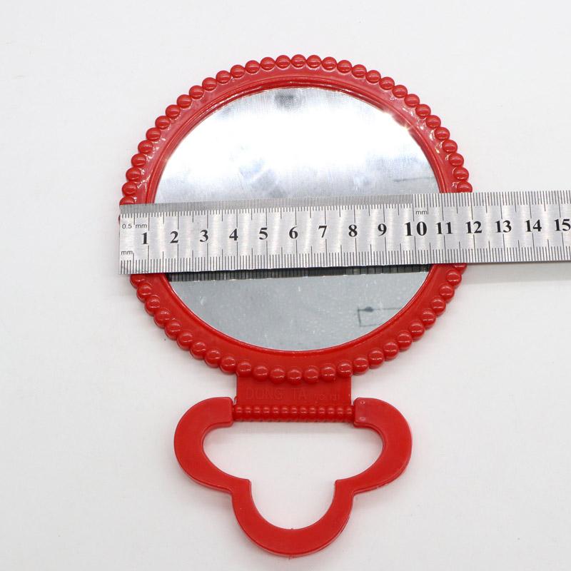 老式塑料结婚红色镜子圆镜闢邪壁小圆镜绿蓝可壁挂桌镜包邮详细照片