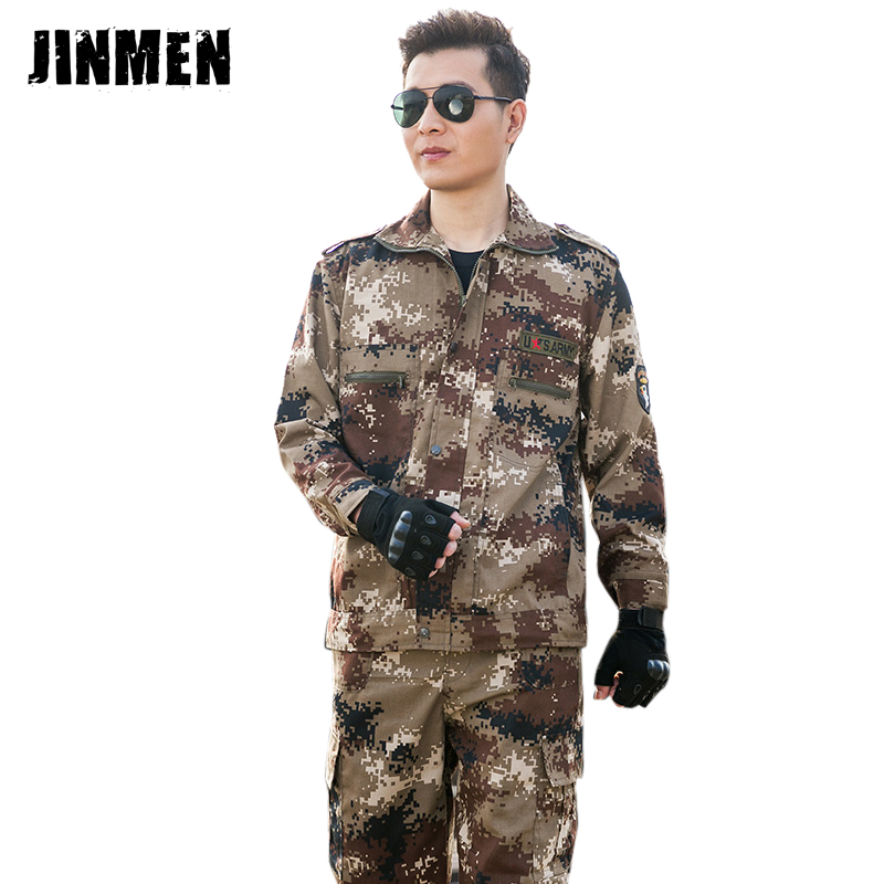 Desert camouflage suit men's summer camouflage uniform outdoor military uniform real cs field equipment training uniform security clothing