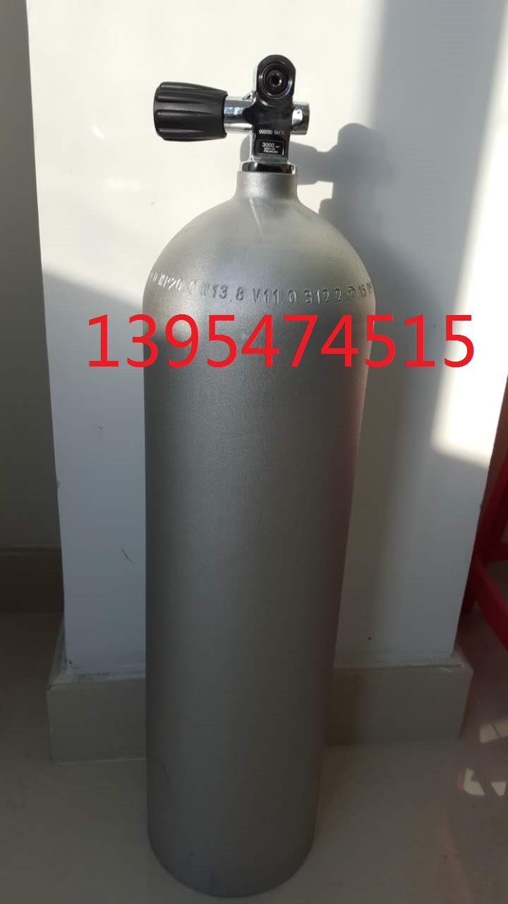 Дайвинг-цилиндры подвергаются пескоструйной обработке и коррозионной стойкости, с погружным клапаном дверь , 12L высокая пресс алюминий Сплав для дайвинга