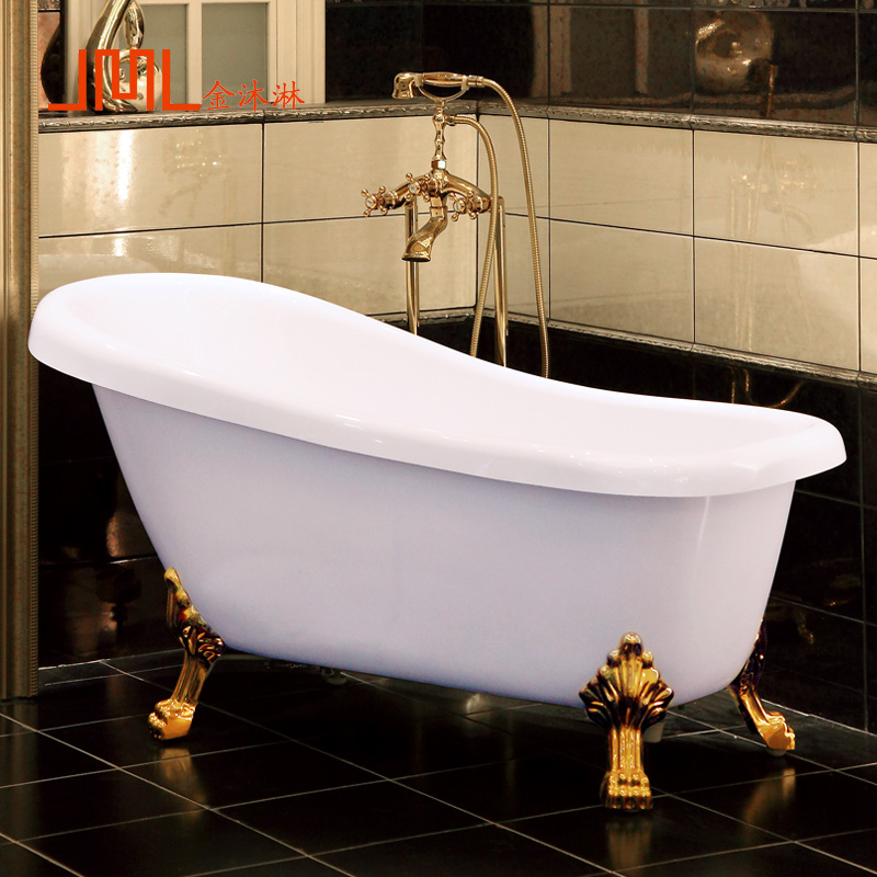 Континентальный королевский ванна домой для взрослых акрил ванна независимый стиль толщина температура ванная комната небольшой квартира ванна