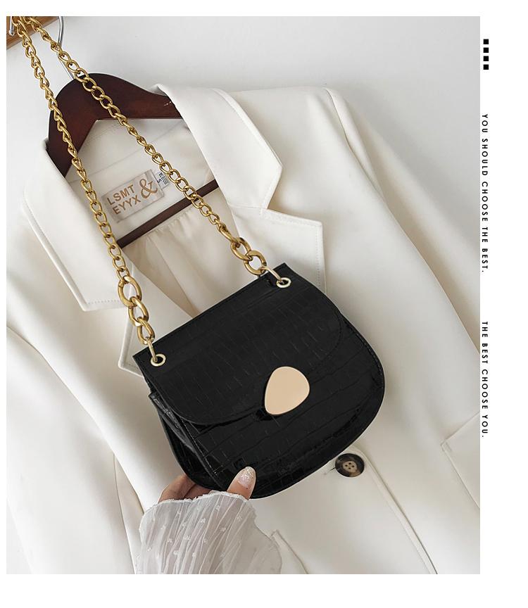 Korean version of the shoulder messenger bag fashion stone pattern chain bag NHXC135599