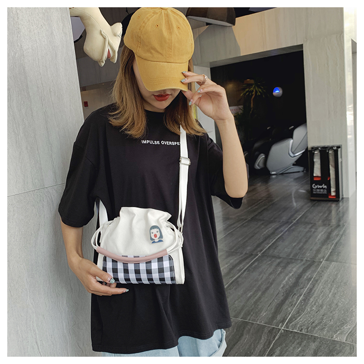 lattice canvas bucket bag  NHEX305978