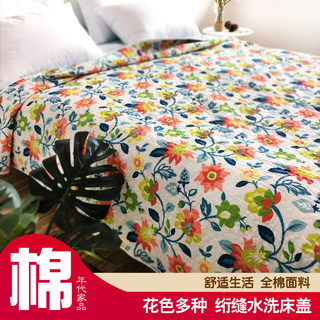 Cotton summer cool quilt cover, quilted quilt, cotton bed, sofa sheet, export style Korean mattress