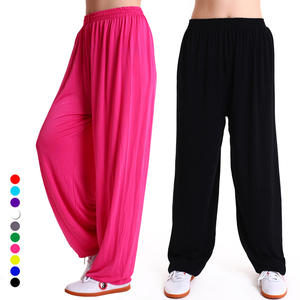 Tai chi clothing chinese kung fu uniforms pants martial arts training pants modal Taiji costume lantern pants Yoga Pants wide leg pants