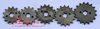 Motocross accessories Horizontal engine chain 10-19 teeth front sprocket 428 pinion hole 17MM