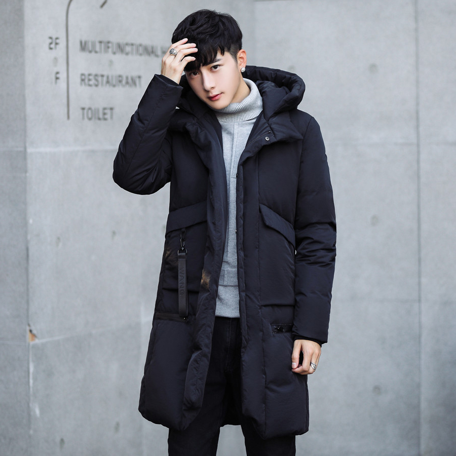 42ecf5fa43 2018 Winter Cotton Clothes male medium and long thickened cotton jacket  Korean students down cotton suit winter coat trend handsome