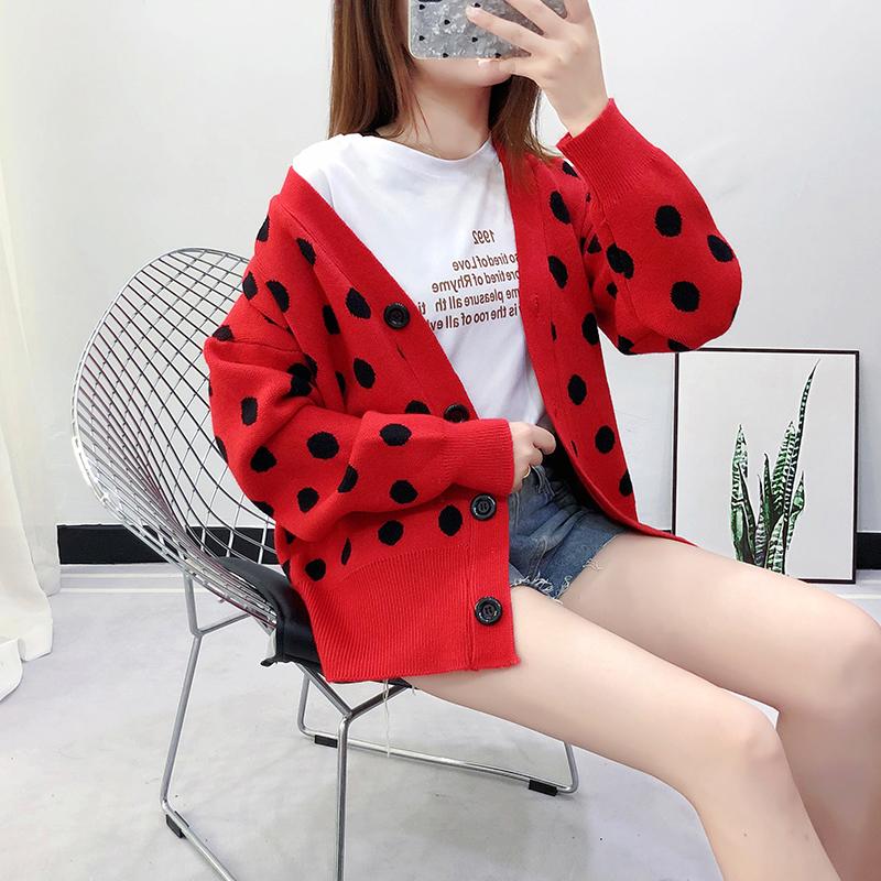 实拍~很仙的短款针织开衫2019秋装新款韩版宽松百搭洋气毛衣女906