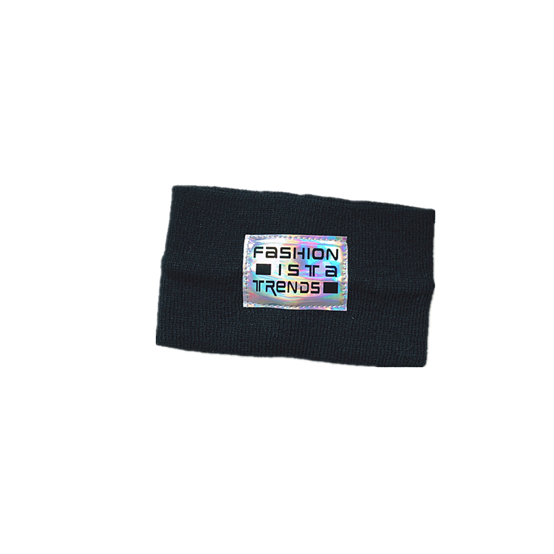 Laser Silver Reflective Labeling Letters Wide Edge Knitted Headband NHALD337063