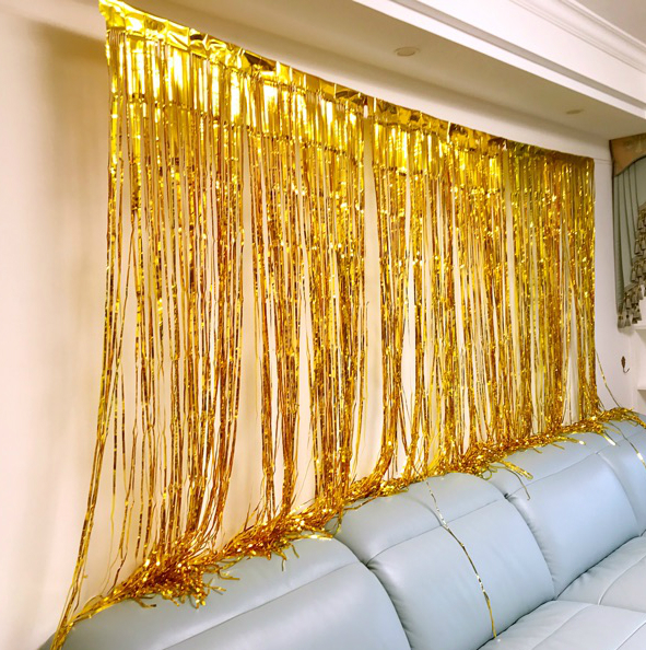 birthday party dress up supplies sparkling rain curtain balloon hundred days new year background decoration wedding