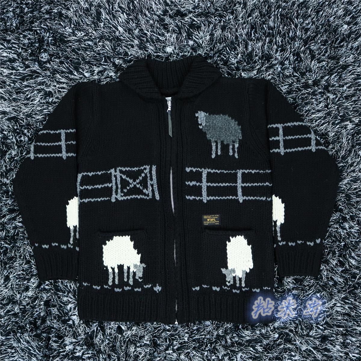 110e23459a3 USD 1246.79  (Order)WTAPS COWICHAN SWEATER WOOL cardigan sweater ...