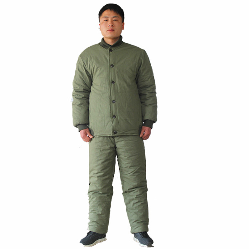 Military coat cotton coat thick cotton flower cotton jacket cotton pants cotton fabric cold insulation Cold work clothes