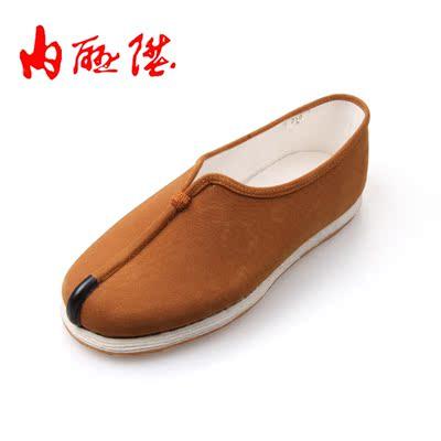 内联升布鞋老字号北京布鞋男鞋千层底男机纳底贴胶片僧夹鞋3196C