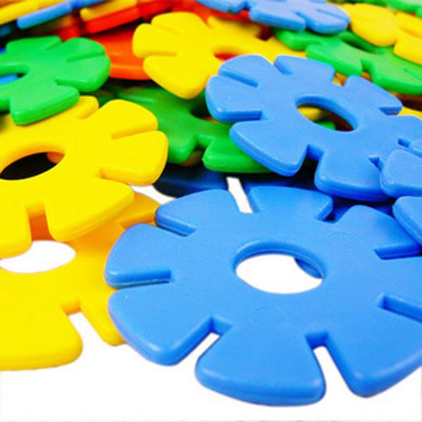 积木塑料加厚宝宝片大号拼装拼插特价幼儿园儿童雪花益智玩具包邮