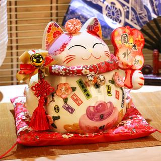 Китайские коты счастья,  Счастливый кот зал счастливая кошка украшение открытый размер керамика экономить деньги сохранить бак магазин домой подарок состояние кот, цена 1243 руб