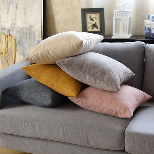 Nordic minimalist pillow living room sofa cushion cover thickened office lumbar pillow backrest pillow back cushion without core