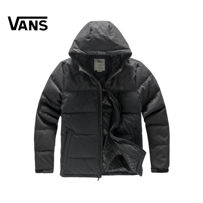 Vans/ модель этот зима мужской чёрный вниз куртка |VN0A32P8BLK