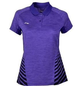 Li Ning nữ cầu lông mặc áo thi đấu thể thao T-shirt AAYK138-3