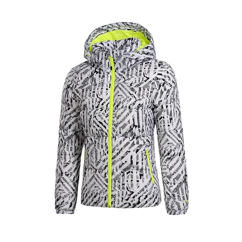 Li Ning của phụ nữ đào tạo loạt ngắn xuống áo khoác của phụ nữ thể thao AYML012-2