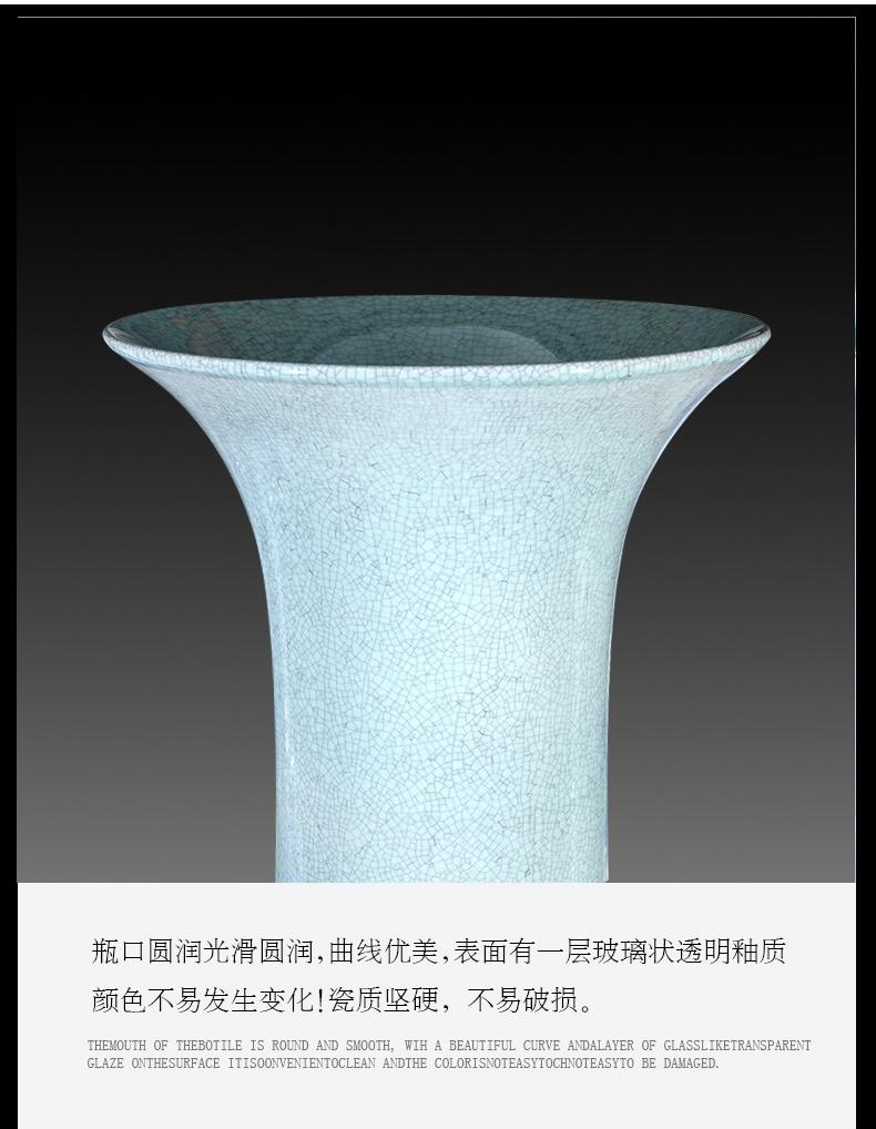 Archaize crack of jingdezhen ceramics glaze vase landing Chinese style living room TV cabinet decoration high place extra large