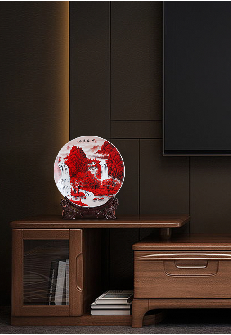 Much luck, hang dish of jingdezhen ceramics decoration plate of Chinese style household, sitting room porch place, creative arts and crafts