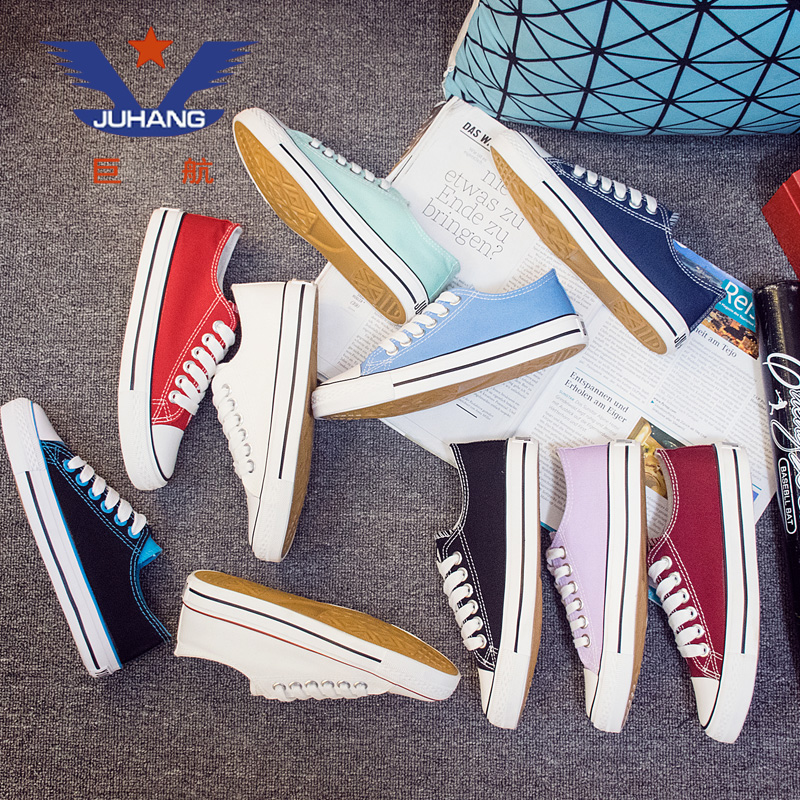 2018 new cotton shoes small black canvas women's shoes Korean version of the wild student shoes autumn and winter casual plus velvet small whiteboard shoes