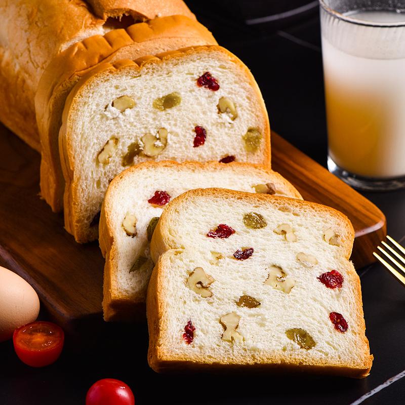 泓一 每天有面包 坚果夹心吐司面包 700g