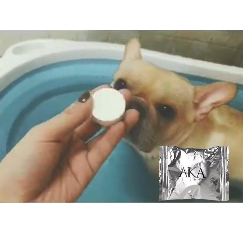 日本AKA碳酸SPA泡腾片单颗 顺毛祛除皮屑除臭