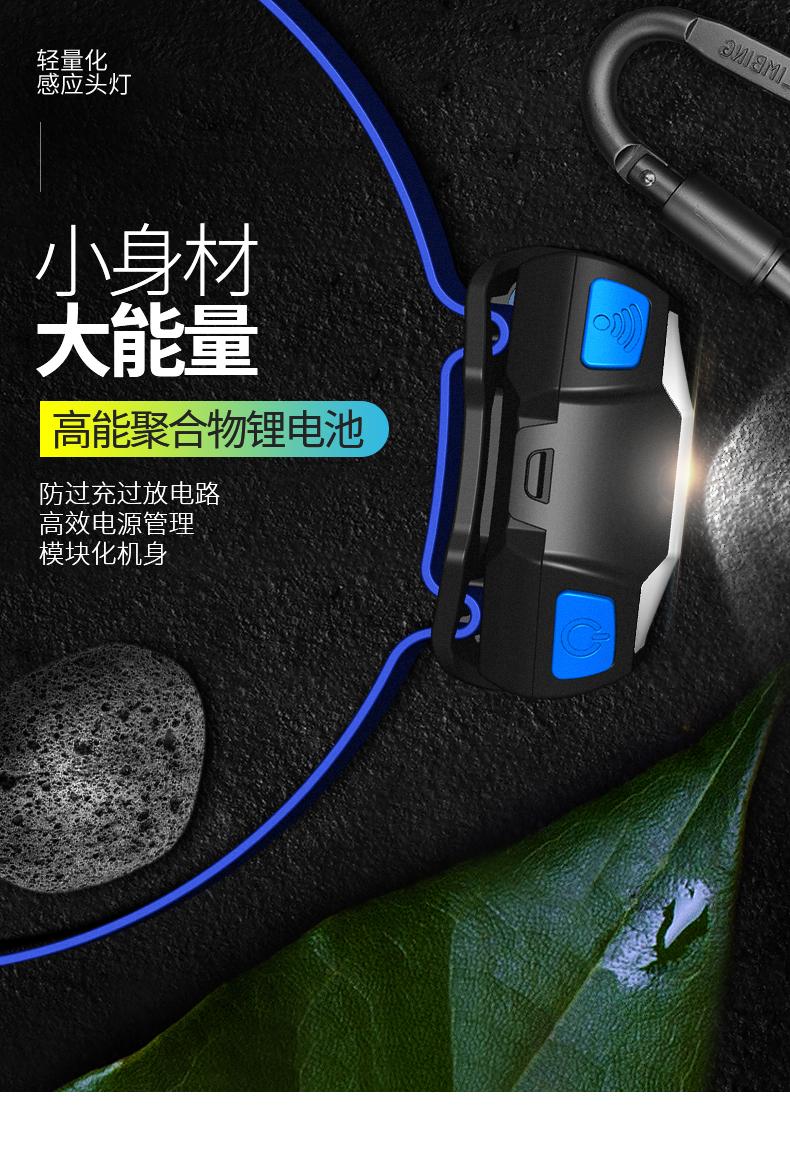 探露LED钓鱼感应头灯夜钓可充电强光超亮远射夹帽灯头戴式防水商品详情图