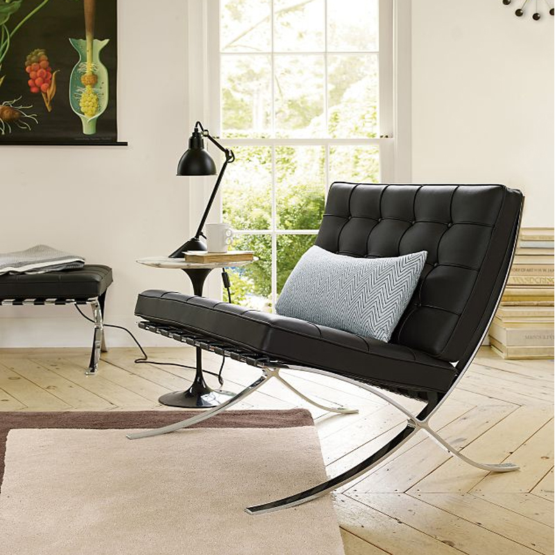 Барселона ло что стул кожа одноместный диван стул может пассажир творческий континентальный дизайнер стул простой современный диван стул