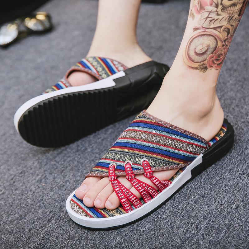 拖鞋男夏季新款防滑软底外穿凉鞋一字拖沙滩鞋夏天潮流个性凉拖鞋