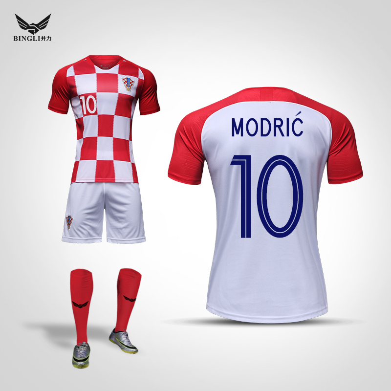 214114179 Croatia jersey 2018 World Cup short sleeve soccer team match clothes Modrič  children Jersey custom