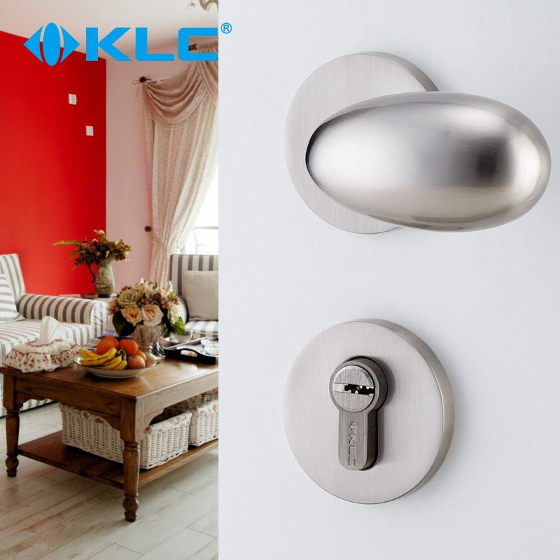 KLC室内门锁欧式卧室机械门锁球形房门分体锁具实心把手