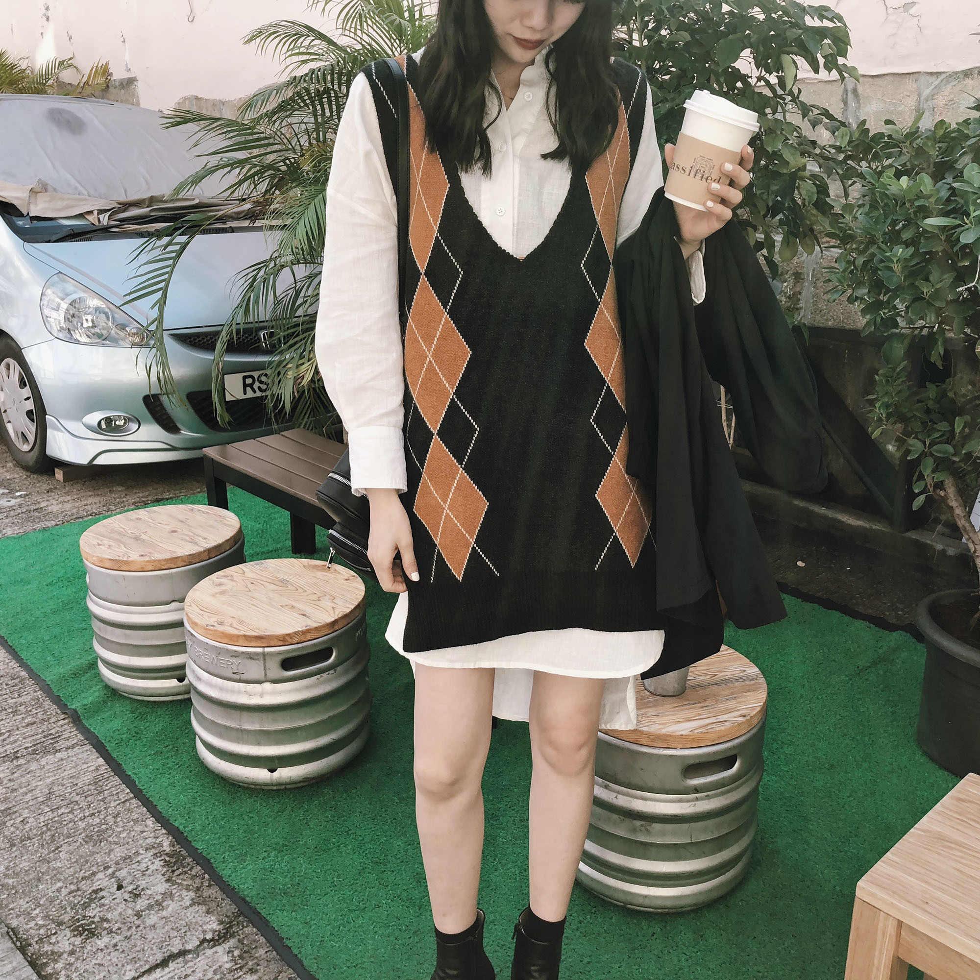 JHXC цвет hit стеганный V не содержит свинца рукав вязание жилет женщина 2018 новый весна длина тонкий свитер жилет