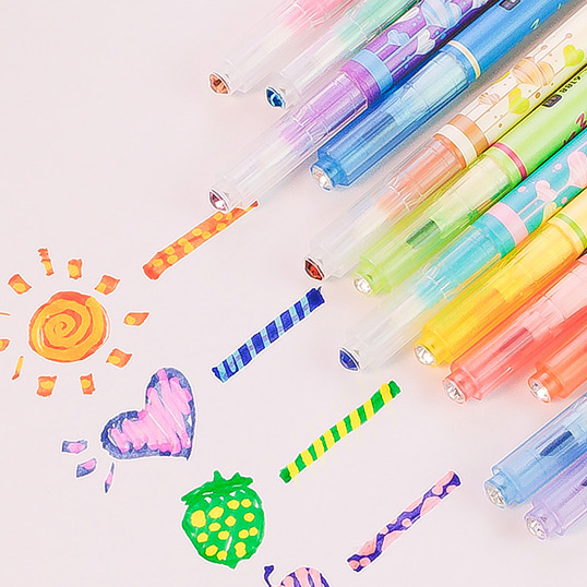 Usd 12 99 Creative Hand Book Journal Magic Color Change Pen Two Headed Color Highlighter Graffiti Pen Focus Mark Marker Pen 12 Colors Wholesale From China Online Shopping Buy Asian Products Online