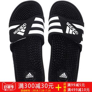 Adidas nam giày dép Velcro Adi giày bãi biển giày thể thao màu đen và trắng phòng tắm không trượt dép giản dị và dép đi trong nhà