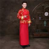 Звезда фасон унисекс Одежда Xiuhe в стиле китайского стиля Malay новый Lang свадебное платье мужской Одежда для тостов, костюм для танцев мужской Длинные Fengqi