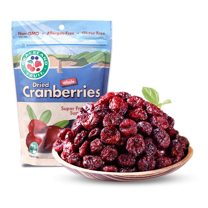 【果瑞氏】美国进口不添加蔓越莓干烘焙用材料新鲜零食饼干1000g