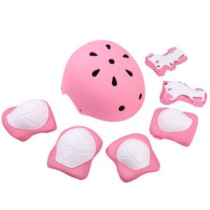 儿童运动头盔护具轮滑溜冰护膝男女宝宝安全盔平衡车头盔护具套装