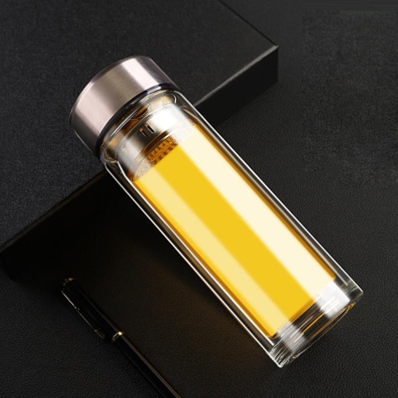 智能保温杯男双层玻璃杯泡茶男士茶水分离防烫手高档�广告杯定制