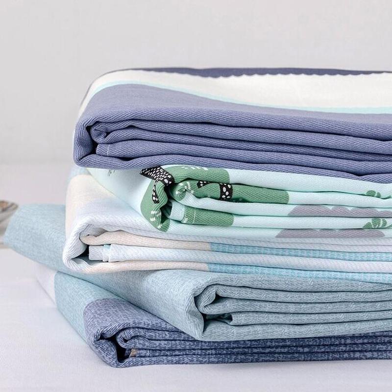 加厚100全棉老粗布床单单件纯棉亚麻凉席三件套单人被单1.5米夏季