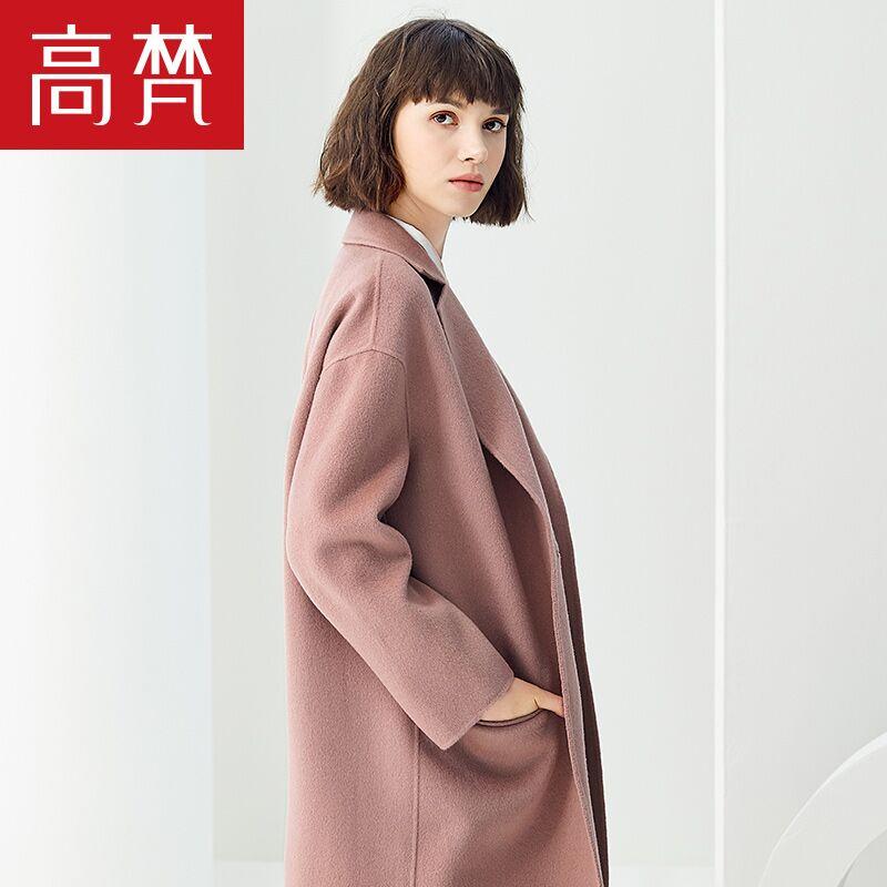 高梵2019冬季双面绒羊毛呢大衣