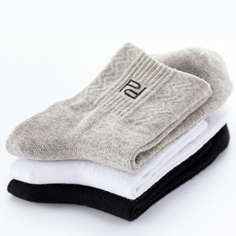 品答男士袜子纯棉中筒秋冬款防臭抗菌棉袜透气吸汗商务休闲厚长袜