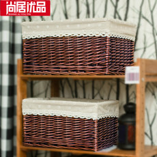 Storage box, drawer, sorting box, willow book, clothes storage box, rattan wardrobe, storage box, woven frame, household use