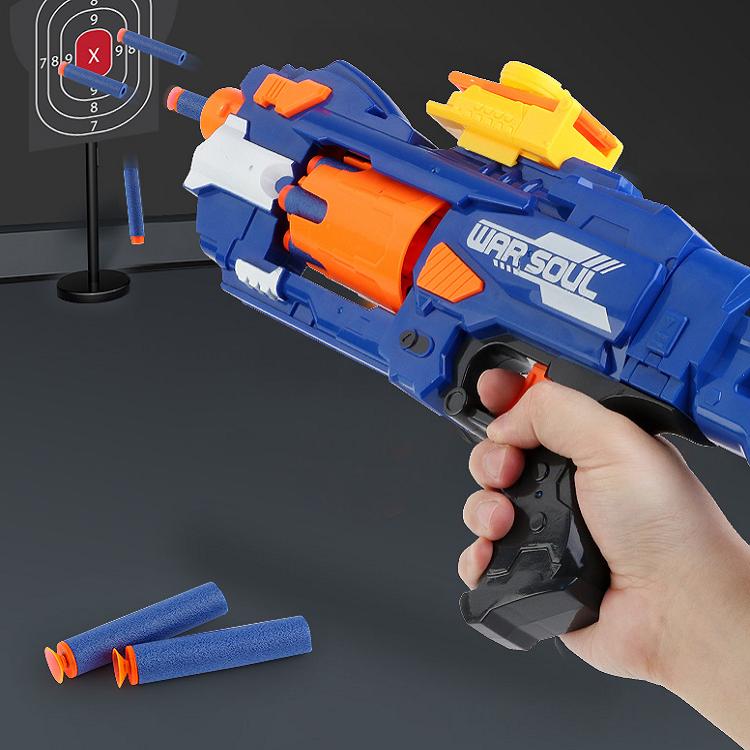 儿童电动连发玩具枪软弹枪冲锋狙击手枪生日礼物男孩子吸盘4-6岁7